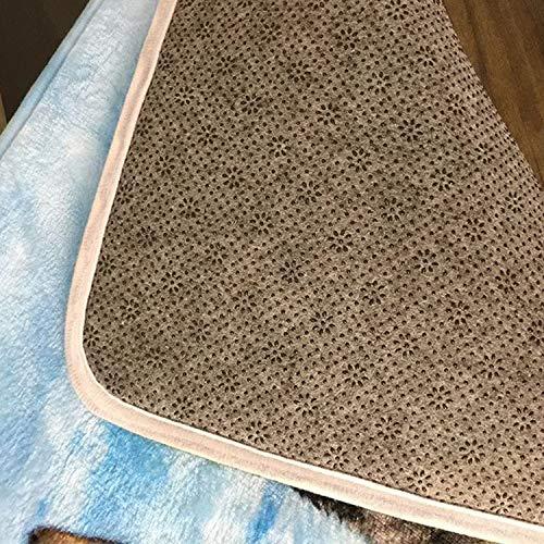 """ZMvise - Felpudo de franela personalizable, diseño con texto en inglés """"There is No Place Like 127.0.0.1"""", lavable y duradero, para interiores y exteriores, 15,7 x 60 cm"""