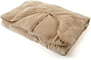 Sleep Tight Weighted Blanket Large 16 Pound Beige 71-140 pounds 54