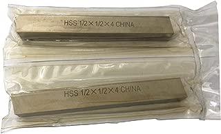 CNC Lathe HSS Square Cutting Tool Bits Bar 2 Piece Set, 1/2x1/2x4