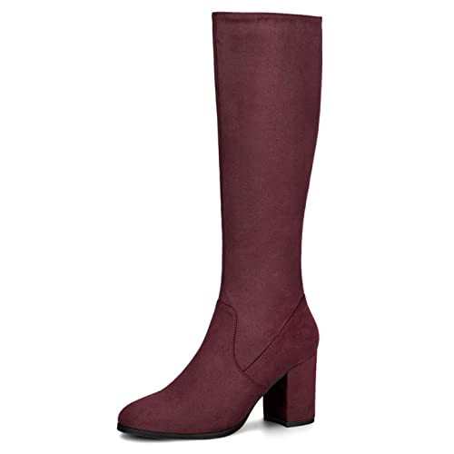 yet not vulgar save up to 80% nice cheap Burgundy Knee High Boots: Amazon.co.uk