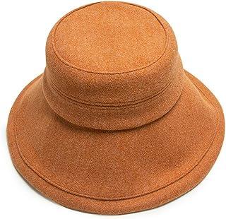 "Yizhichu19900502 Unisex Foldable Bucket Hats,Extra Long 4.33"" Brim Warm Wool Blend Fisherman Cap"