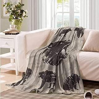 Oncegod Knee Blanket Cabin Different Bears Grunge Design Portable Car Travel Cover Blanket 93
