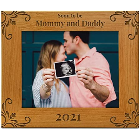 uncles custom child frame bamboo 3 sizes alder grandparents Personalized wood picture Frame gift for parents aunts wf079 walnut