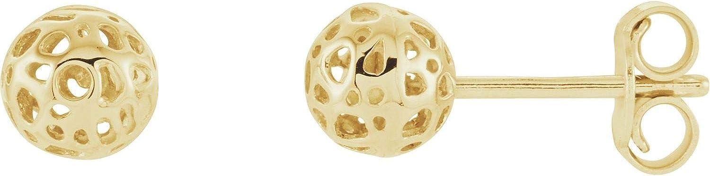 14k Yellow Gold Ball Earrings for Women 1.07g