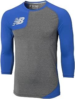 New Balance Men's Asymmetrical Right Wicking Baseball Shirt