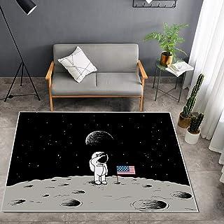 Tritow Cartoon Carpet Children'S Bedroom Rug Easy-Cleaning Living Room Area Mat Anti-slip Mat Graffiti Moon For Bedroom Fr...