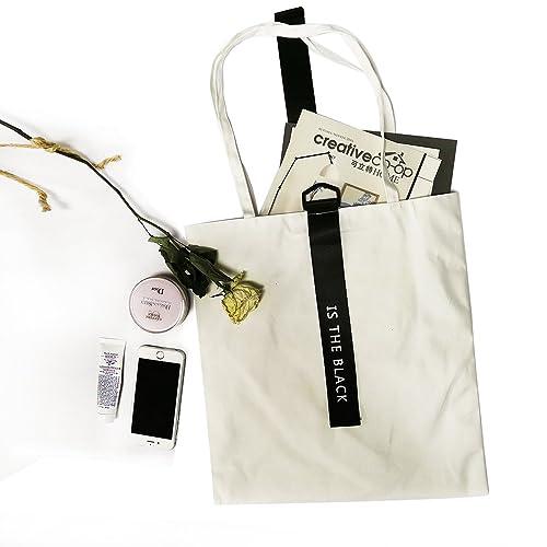 ASAPS Canvas Tote Bag Black Print Design c3310b3f6adaa