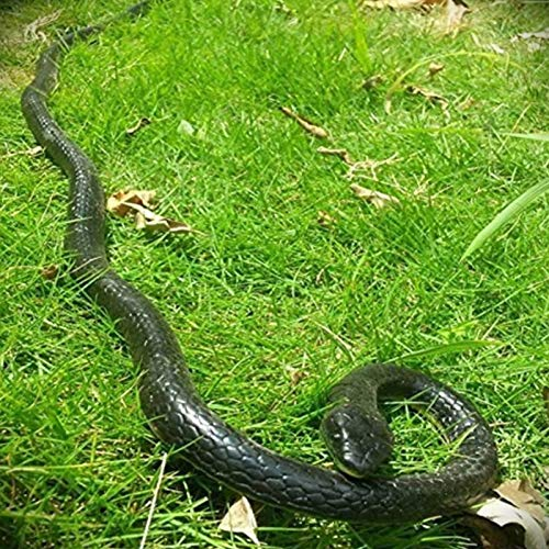 Yoogeer 47 Inches Rubber Lifelike Snakes Scary Gag Gift Incredible Creatures Chain Snakes Rain Forest Snake Toys Wild Life Snakes