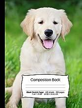 Dog Composition Notebook, Blank Sketch Paper: Sketchbook Drawing Art Paper, 200 pages, 7.44