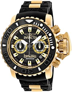 Men's Sea Hunter Stainless Steel Swiss-Quartz Watch with Silicone Strap, Black, 25 (Model: 20475)