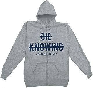 Men's Strikethrough Hooded Sweatshirt Grey