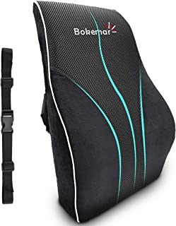 Lumbar Support Pillow Back Cushion Comfort 100% Pure Memory Foam Lumbar Support for Office Chair - Lumbar Support Pillow with Adjustable Straps for Car, Office Chair and Wheelchair