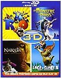 Blu-ray 3D - Coffret 4 films : Rio + Un monstre à Paris + L'âge de glace 3 + Le...