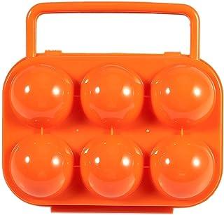 Arancio Schneespitze 2 Pezzi Portauova Portatile Griglie Portauova Custodia Plastica da Viaggio Uova per Uso Domestico Organizzatore Scatola di Uova Contenitore Portatile Supporto per Uova,Blu