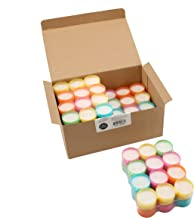 Stonebriar DTLC-96-6 Tea Light Candles 6 to 7 Hr Extended Burn Time, 96 Pack, Multicolor, 96 Count