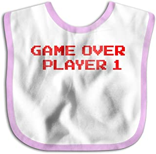 Waterproof Baby Bibs Game Over Player Soft Skin Wrap SuperBib For Babies & Toddlers