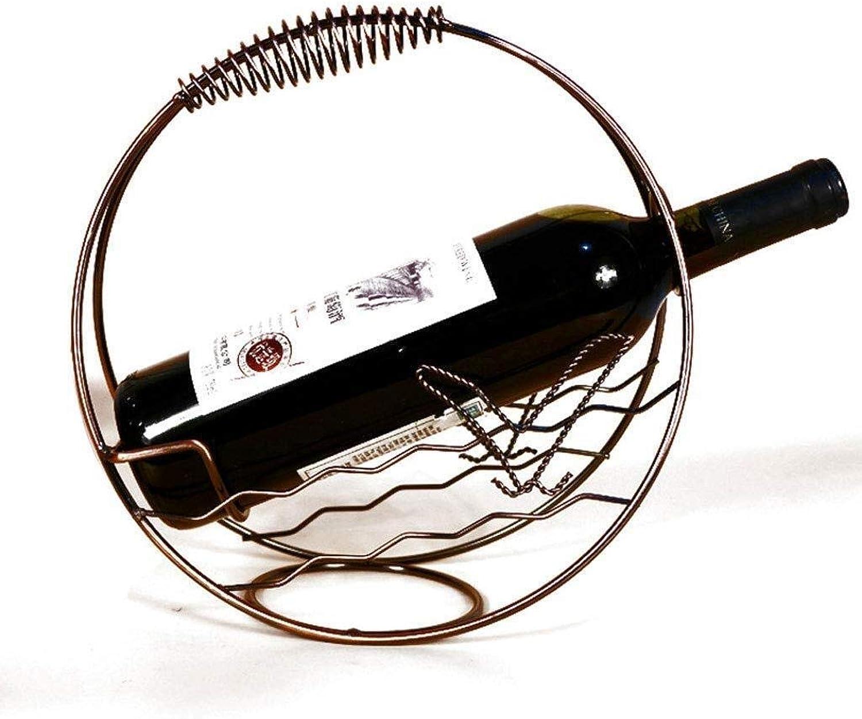 autorización oficial MZXI MZXI MZXI Estante for vinos pequeo, Estante de exhibición de Metal Decoraciones rústicas con Estilo Fácil de Colocar Estante for vinos ejército de Reserva  minoristas en línea