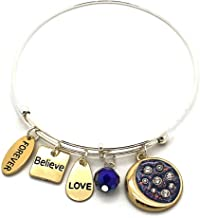 KIS-Jewelry 'Symbology' Inspirational Bracelets | Expandable Wire Charm Bracelets for Women | Gift for Women