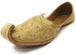 Indian Men Khussa Pure Leather Shoe Ethnic Juti Handmade Mules Tradition Mojari