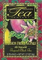 Hawaiian Islands Tea Company(ハワイ・アイランド・ティー・カンパニー) パッションフルーツ・ナ・パリ(紅茶) 20P(36g)×6個(1ケース) [正規輸入品]