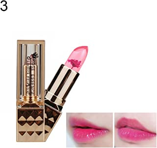 angel3292 Hot sale Color Changing Long Lasting Jelly Dry Flower Lipstick Women Lips Makeup Cosmetic