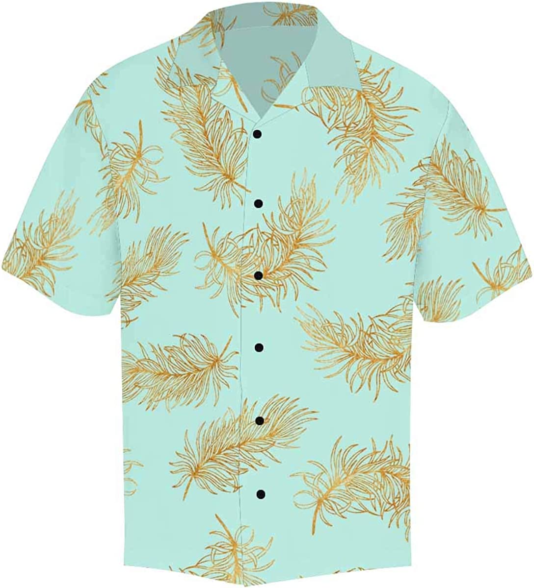 InterestPrint Men's Casual Button Down Short Sleeve Multicolor Easter Egg Hawaiian Shirt (S-5XL)