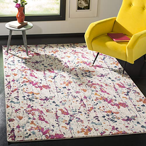 Safavieh Evoke Collection EVK284Q Modern Abstract Non-Shedding Living Room Bedroom Area Rug, 5'1