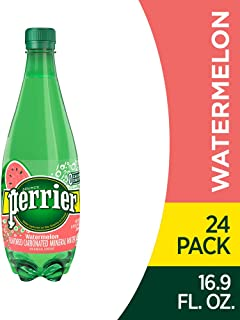 Perrier Watermelon Flavored Carbonated Mineral Water, 16.9 Fl Oz (24 Pack) Plastic Bottles