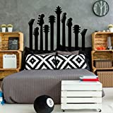 Electric Guitar Over the Bed Wall Decal Silhouette - Music Studio Decor - Vinyl Decorations for Home, Bedroom or Playroom - Musician Gift