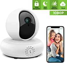 Security Camera Wireless Pet Camera - 1080P IP Camera Full HD Indoor Security Camera Wireless Camera Surveillance Camera Wireless with IR Night Vision, Motion Detection and Two-Way Audio