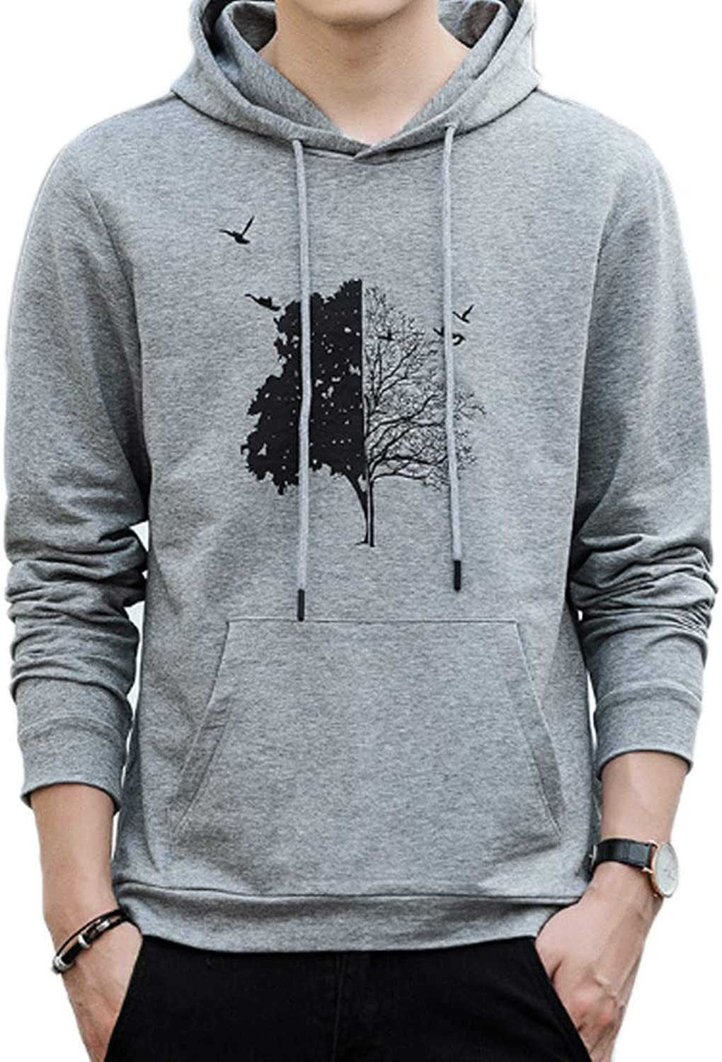 a256fc225341b QJKai Men's Hoodie Spring Spring Spring and Autumn Slim Sweatshirt ...