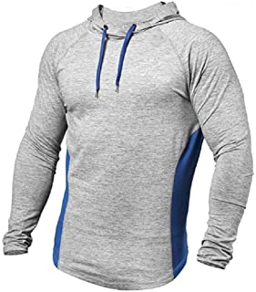 Zimaes Men Outdoor Quick Drying Tees Top Pullover Shirts Tops for Fitness