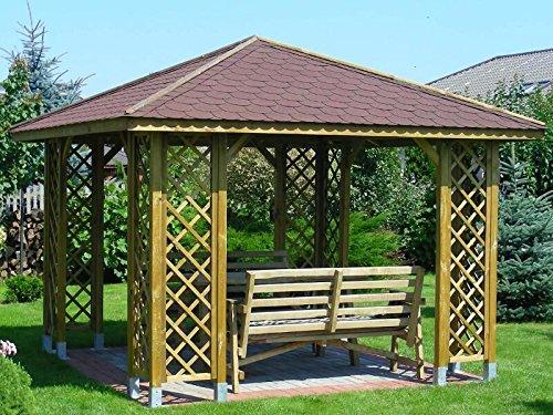 Pavillon Jasminum, Pfostenstärke: 7 x 7 cm,LxB 300 x 300 cm