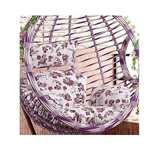 JBNJV Cama Acolchada Gruesa Reclinable Silla Relajante Asiento Cove Cojines para sillas Colgantes, Asiento para sillas Colgantes, Cojines Antideslizantes para sillas, Cesta oscilante Cuna Silla de