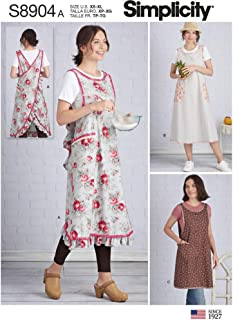 Simplicity Sewing Pattern S8904 Misses' Wraparound Apron, Size A (XS-XL)