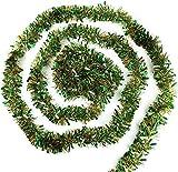 Veylin - Ghirlanda artificiale, decorazione natalizia, 15,5 m, per festività, ambienti es...