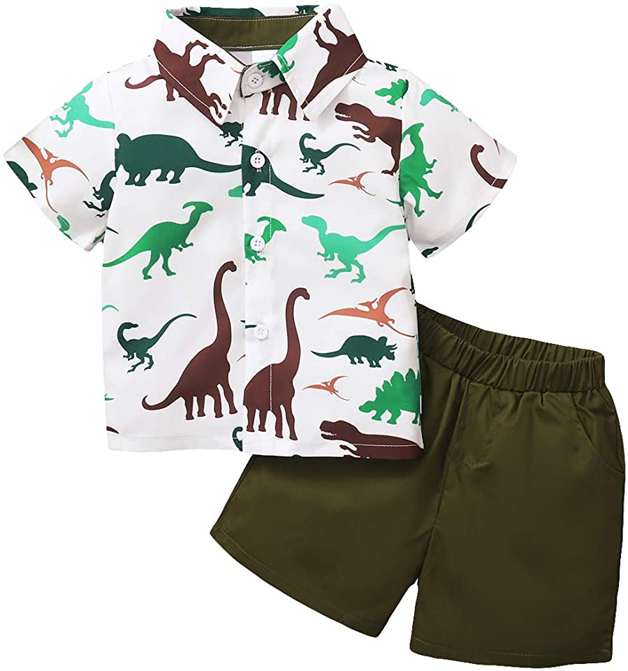 Baby Boy Clothing Sets Summer 1-5 Years, Short Sleeve Shirt + Pants 2pcs Outfits Set Letter Printed Tee
