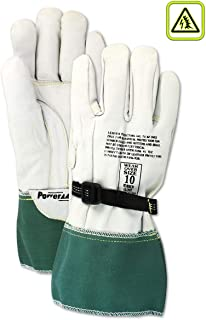 MAGID Low Voltage Leather Linesman Protector Gloves | for Use with Rubber Electrical Insulating Gloves, Gunn Cut Pattern & Gauntlet Cuff - Protector Class: 0 & 00, 13