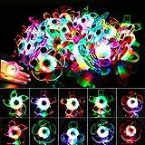 HOWAF 24 Piezas LED Anillos Luminosos Juguetes Favores de Fiesta para niños, Artículos de Fiesta Cumpleaños Niños, Premio, piñatas Infantil cumpleaños Regalo Niño, Niña, Navidad