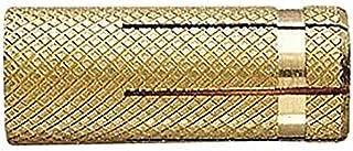 INDEX Fixing Systems TALAM06 [TALA] Taco de latón para fijaciones ligeras en materiales macizos 23 Ø8, DORADO, M6 x 23 mm, diámetro de 8 mm, Set de 200 Piezas