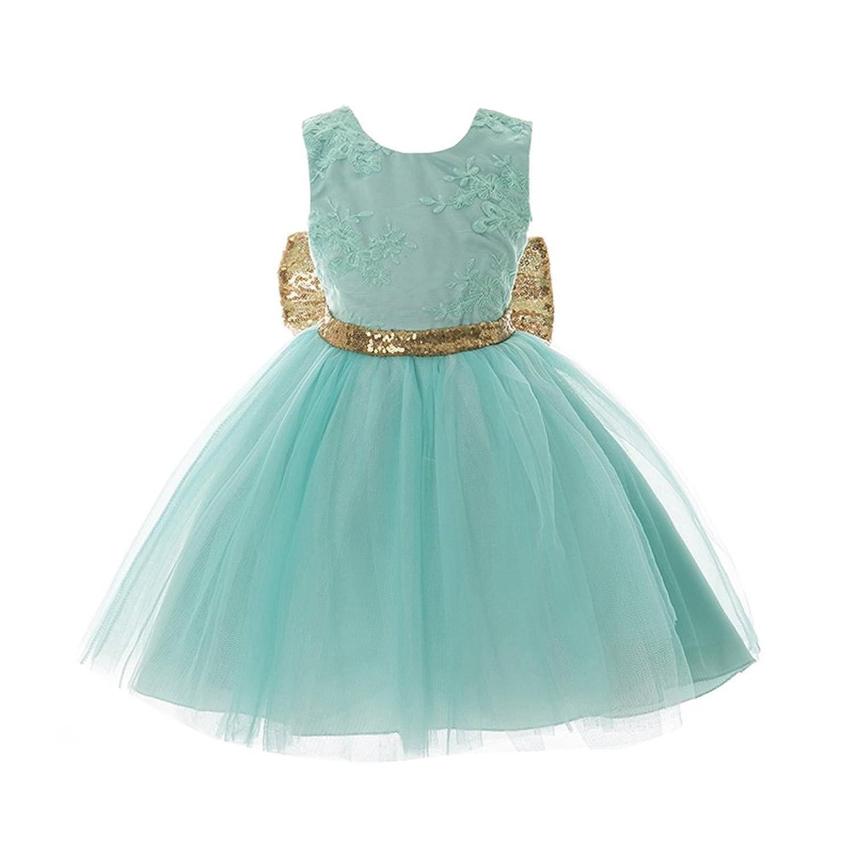 子供ドレス F011 リボン付き フラワー ピアノやバイオリンの発表会 結婚式に ガールズフォーマル