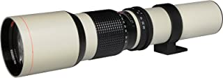 Vivitar 500mm f/8.0 Telephoto Lens (T Mount) (White)