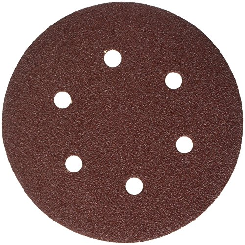 Connex com108060easy-Fix perforado para molinillos excéntrico Disco de lijado, color marrón, 150mm/Tamaño K60, juego de 6piezas