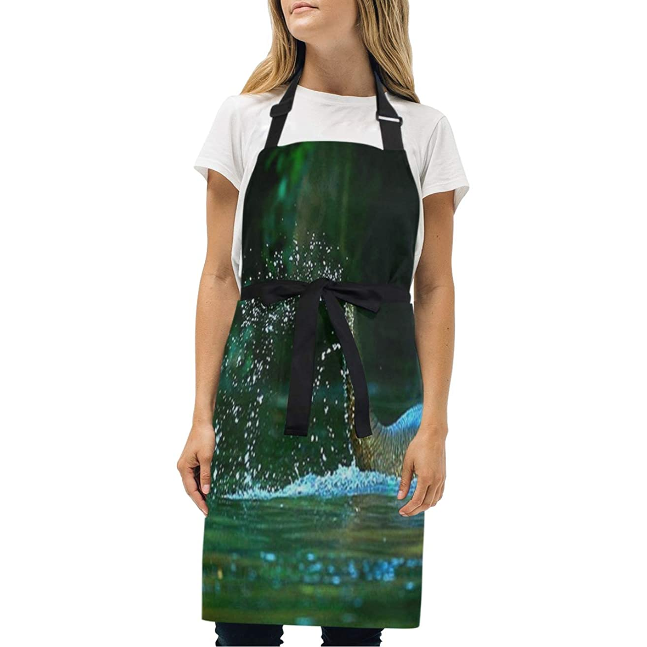 HJudge Womens Aprons Elephant Water Kitchen Bib Aprons with Pockets Adjustable Buckle on Neck