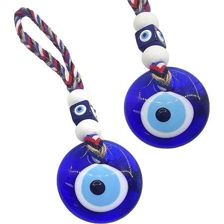 Perlin Nazar Boncuk Boncugu - Decorazione da parete con occhio blu turco, 21 cm, ideale come decorazione per la casa, regalo di benedizione