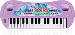 aPerfectLife 32 Keys Piano Keyboard for Kids Multifunction Portable Piano Electronic Keyboard Music Instrument for Kids Early Learning Educational Toy for 3-7 Year Old Girls Boys (Purple)