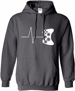 Heartbeat Of A Gamer Funny - Men's Hoodie Sweatshirt