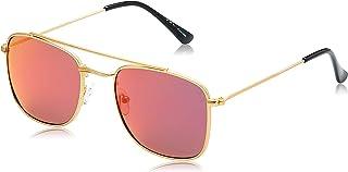 TFL Aviator Sunglasses for Women - Red Lens, 201321-C5