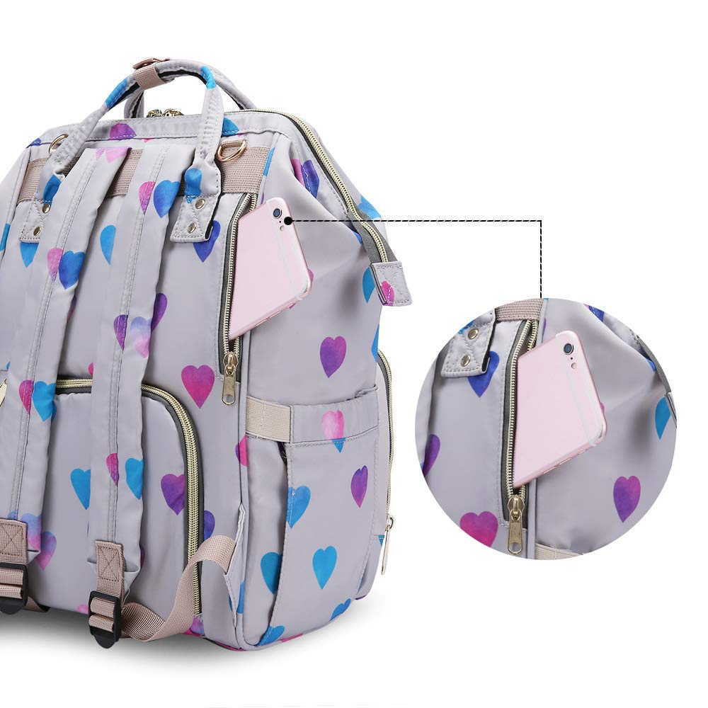 Diaper Backpack Baby Nappy Bag - Travel&Outdoor Organizer Water-Resistant Multi-Function Maternity Bag for Mom Daddy