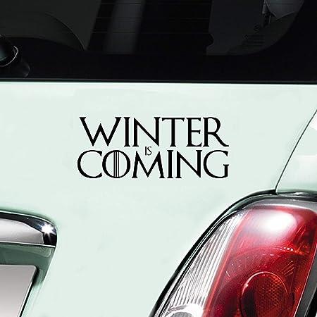Autoaufkleber Aus Vinyl Winter Is Coming Schriftzug Im Stil Von Games Of Thrones Auto